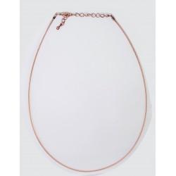10 colliers cable cuivre antique