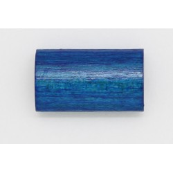100 tonneaux plats bois bleu marine 6x12x20 mm