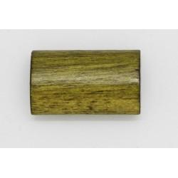 100 tonneaux plats bois vert fonce 6x12x20 mm