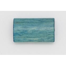 100 tonneaux plats bois bleu clair 6x12x20 mm
