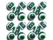 100 Olives Oeil Acrylique Vert foncé 6x8mm