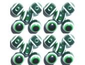 100 Olives Oeil Acrylique Vert foncé 8x10mm