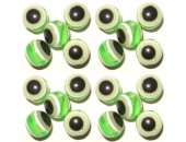 100 Perles Oeil Acrylique Vert clair 12mm