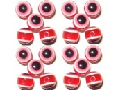 100 Olives Oeil Acrylique Rouge 6x8mm