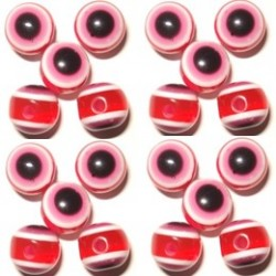 100 Olives Oeil Acrylique Rouge 8x10mm