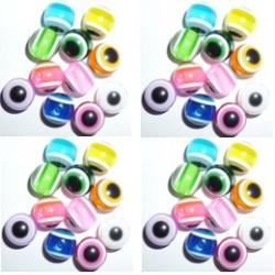 100 Perles Oeil Acrylique Multicolor 8mm