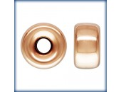 5 Rondelles 6.0mm Trou 1.5mm 1/20 14K Rose Gold Filled