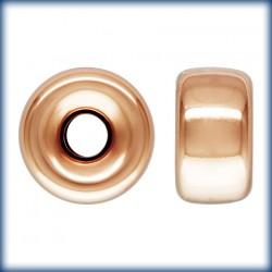 5 Rondelles 6.0mm Trou 1.5mm 1/20 14K Rose Gold Filled