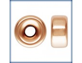 2 Rondelles 8.0mm Trou 2.0mm 1/20 14K Rose Gold Filled
