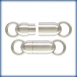 1 Fermoir Magnetique 5.5x14.5mm Argent Veritable