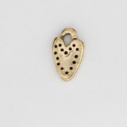 50 coeurs metal doré antique 11x6x2mm