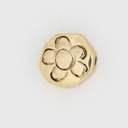 25 perles fleurs metal doré antique 12x12x5mm