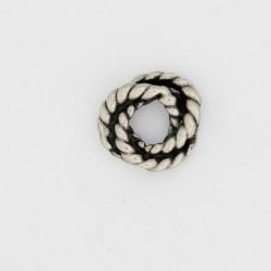 50 anneaux torsades metal argenté antique 10x2.5mm