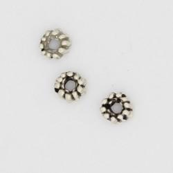 250 rondelles metal argenté antique 5x2.5mm