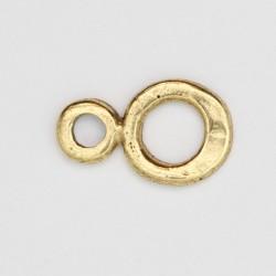 50 anneaux pour crochets metal doré antique 18x11x1mm