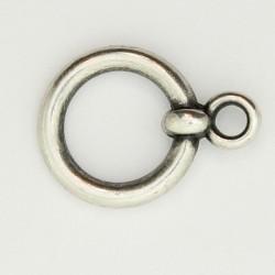 25 anneaux pour fermoir metal argenté antique 16.5x1.5mm