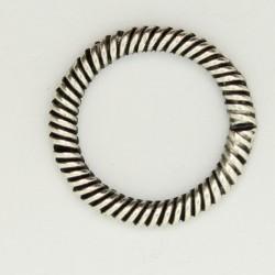 50 anneaux pour fermoir metal argenté antique 21x14x2.5mm