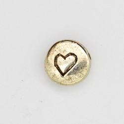 25 perles plates metal doré antique 11x4.5mm