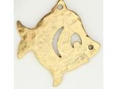 10 poissons metal doré antique 33x32x2mm