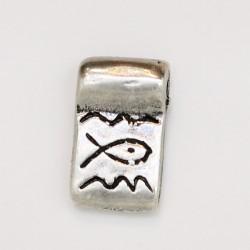 25 pendentifs metal argenté antique 16x10x2mm