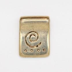25 pendentifs metal doré antique 17x10.5x2mm