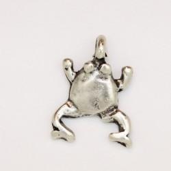 25 grenouilles metal argenté antique 18.5x11x2mm