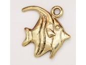 25 poissons metal doré antique 24x19x2mm