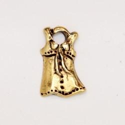 50 robes metal doré antique 16x7x2mm