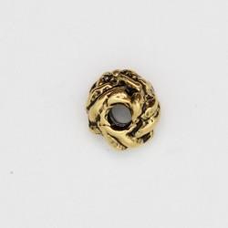 50 perles metal doré antique 8x4mm
