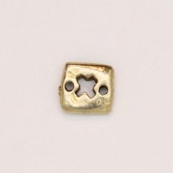50 intercalaires 2 trous metal doré antique 8.5x8.5x2mm