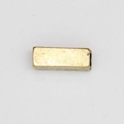 25 tubes metal doré antique 13x4.5x4.5mm