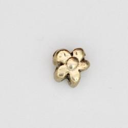 25 perles fleurs metal doré antique 8x5mm