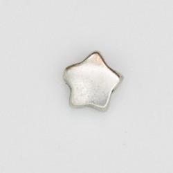 25 perles etoiles metal argenté antique 10x10x4mm