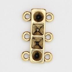 25 elements de collier 3 rangs metal doré antique 21x12x3mm