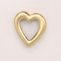 25 perles coeurs metal doré antique 15x15x4mm