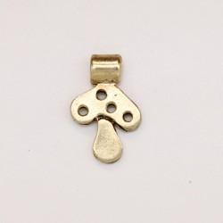 50 champignons metal doré antique 14x9x1.5mm