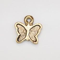 50 papillons metal doré antique 12x11x2mm
