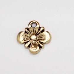 50 fleurs metal doré antique 12.5x10.5x2mm