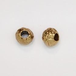 50 perles metal doré antique 5x6mm