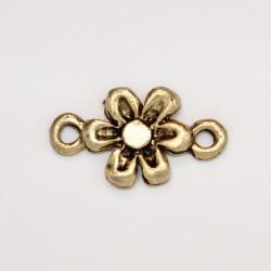 50 fleurs metal doré antique 18x11x2mm