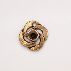 50 fleurs metal doré antique 10.5x2mm