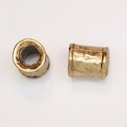 25 tubes metal doré antique 8xx7mm