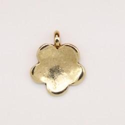 25 fleurs metal doré antique 14.5x12x1.5mm