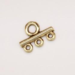 50 elements 3 anneaux metal doré antique 17.5x13x2.5mm