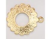 25 anneaux pour fermoir metal doré antique 27x23mm