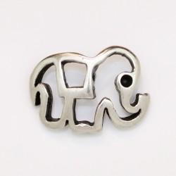 25 elephants metal argenté antique 18.5x12.5x2mm