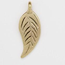 25 feuilles metal doré antique 24x9x1.5mm