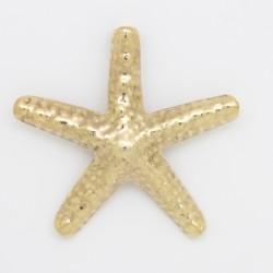 5 etoiles de mer metal doré antique 44x5mm