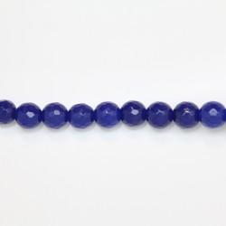 Perles Facettes Jade ''CANDY'' teinté 10mm Bleu 09
