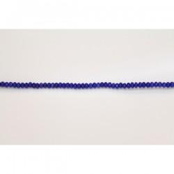 Rondelles Facettes Jade ''CANDY'' teinté 4mm Bleu 09
